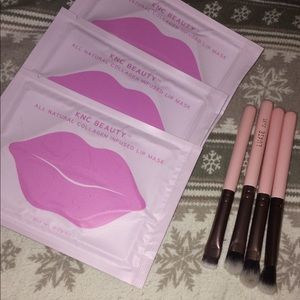 Luxie 4 minibrushes and 3 lip masks